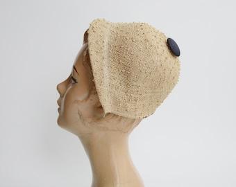 1950s Small Straw Cap