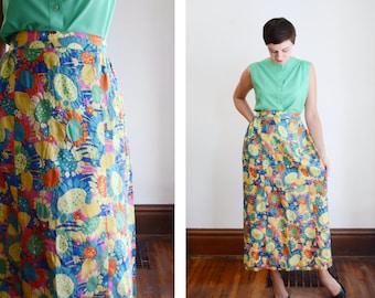 1960s Sunflower Midi Skirt - S/M