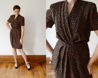 1980s/1990s Animal Print Dress - Petite M