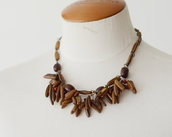 1940s Nuts and Seeds Necklace