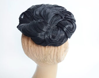 1950s Black Norman Durand Hat