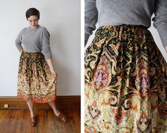 1980s/1990s Paisley Rayon Skirt - M