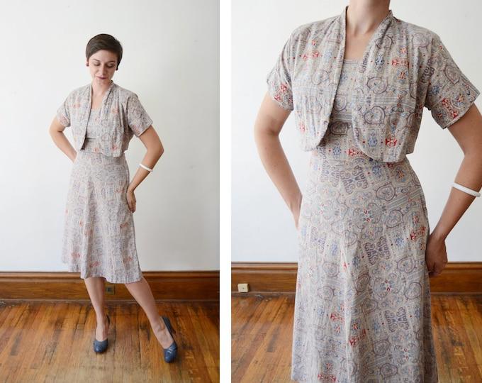 Featured listing image: 1940s Sundress and Bolero Set - S