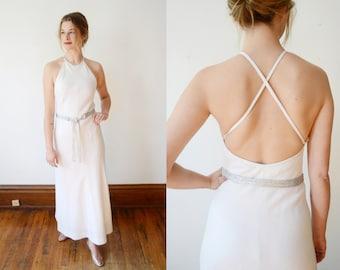 1970s White Anne Klein Dress - XS
