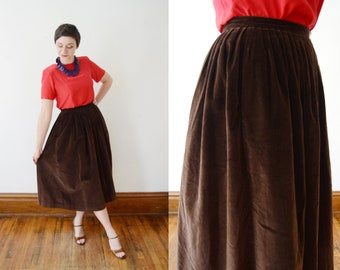 90 Chocolate Velvet Skirt - XS/S