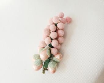 1940s Pink Cluster Brooch