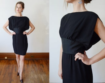 1960s Black Cocktail Dress - XS