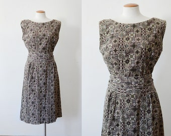 1960s Handmade Corduroy Dress - M