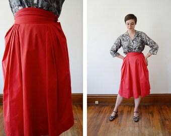 1950s Red Skirt - S
