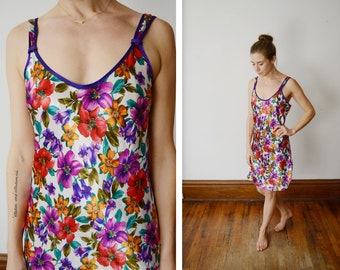 1980s Floral Nightgown - S