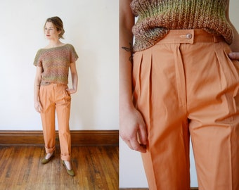 1970s Terra Cotta Cotton Trousers - XS