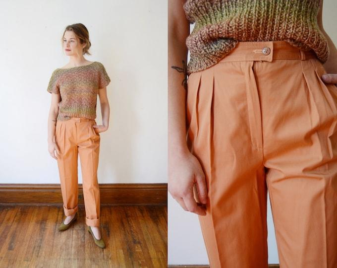 1970s Terra Cotta Cotton Trousers - XS
