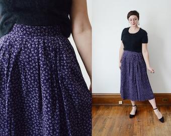 1980s Cotton Velveteen Skirt - XS/S