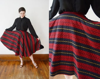 1950s Quilted Circle Skirt - XS