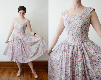 Carol Anderson 1980s Cotton Floral Sundress - S/M