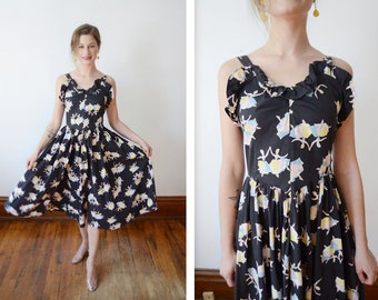 1950s Ballerina Novelty Print Sundress - XS