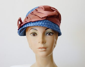 1960s Blue Bubble Hat