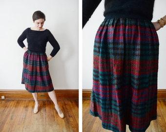 Diane Von Furstenberg 1980s Plaid Skirt - S
