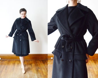 Lilli Ann 1960s Black Coat - M