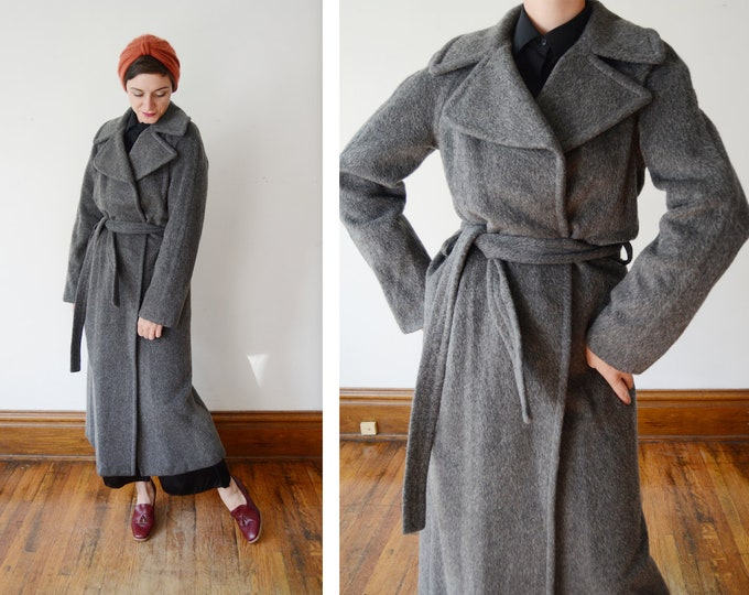 Featured listing image: 1990s DKNY Grey Wool Long Coat - M