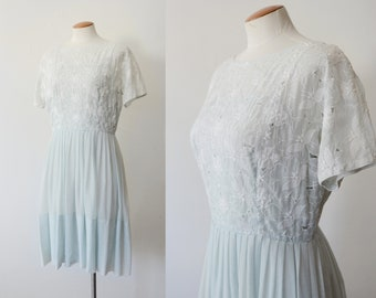 1960s L'Aiglon Eyelet Dress - M