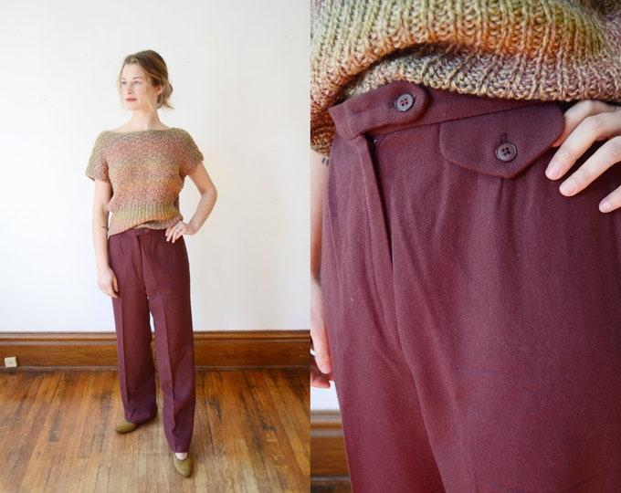 1970s Purple Wool Slacks - S