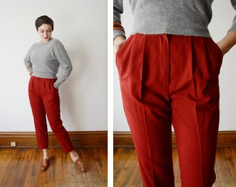 1980s Brick Red Slacks - M