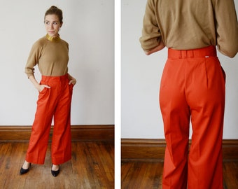 1970s Highwaist Red Levis Pants - S