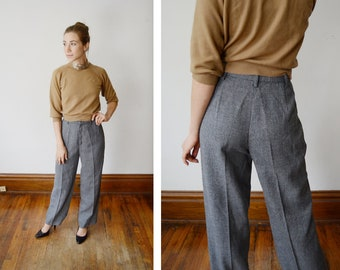1970s Grey Trousers - S