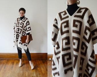 1970s Wool Poncho - S/M/L