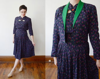 1940s Tulip Dress and Jacket - S/M