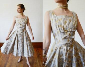 1950s Metallic Mr Mort Party Dress - XS