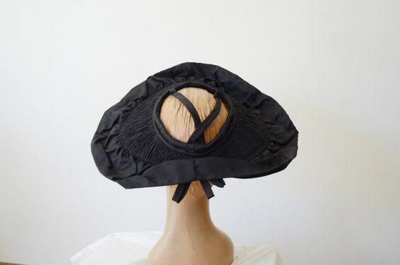 1940s New York Creation Black Open Top Hat