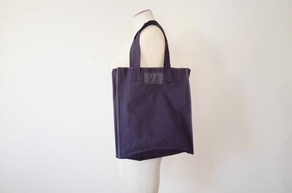 1970s Navy Tote Bag