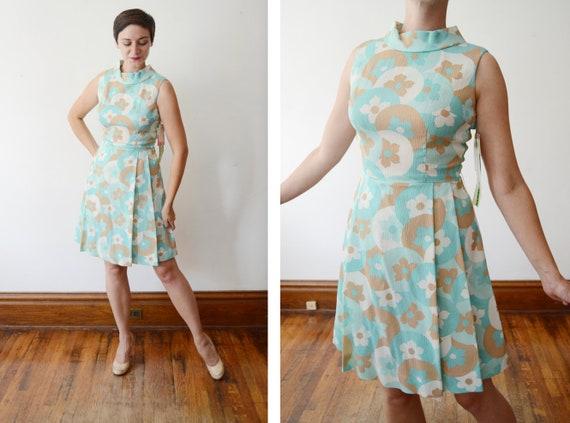 1960s Deadstock Floral Dress - S