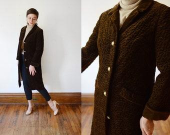 1960s Mr Mort Quilted Velvet Coat - S