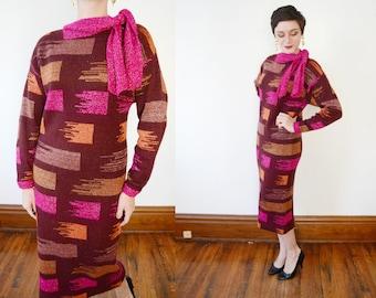 Mohair 80s Metallic Sweater Dress - S/M