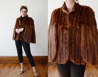 1940s/1950s Dark Brown Fur Stole