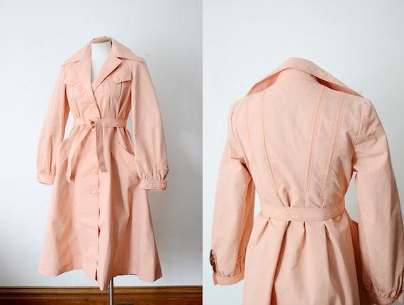 1970s Peach Trench Coat - S