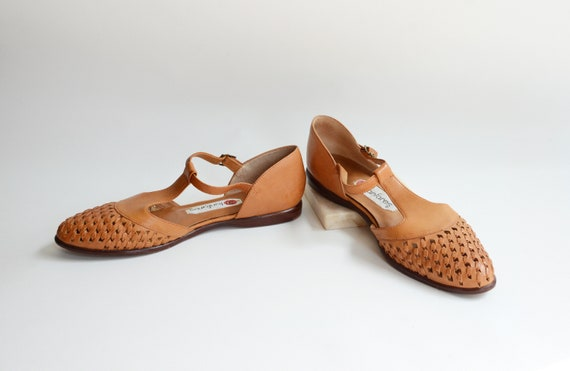 1980s Leather Flats - 8