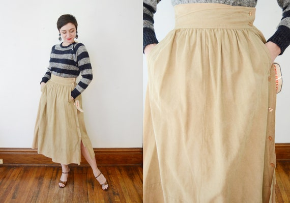 1980s Faux-Suede Skirt - S/M