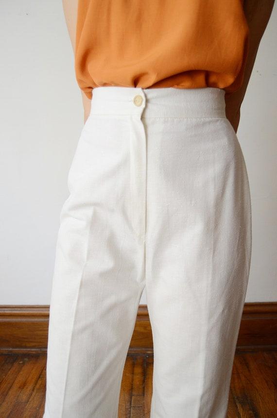 1970s Highwaist White Pants - S - image 6
