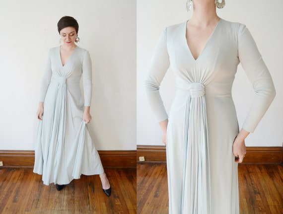 1970s Giorgio di Sant'Angelo Jersey Maxi Dress - S