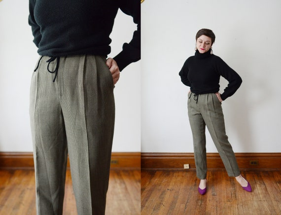 1990s Dana Buchman Wool Trousers - M