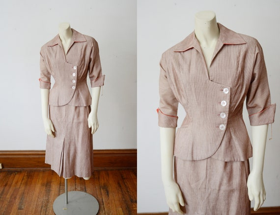 40s R&K Original Summer Skirt Suit - XS