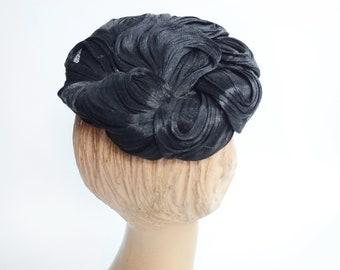 1950s Black Norman Durand Hat