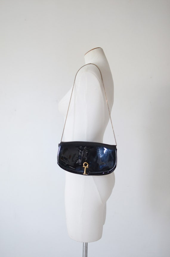 As Is 1960s Patent Crown Lewis Bag