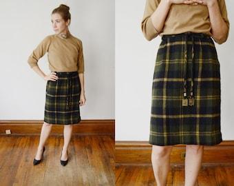 1960s Plaid Mini Skirt - S