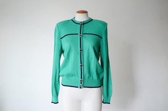 1980s Green Cardigan - S