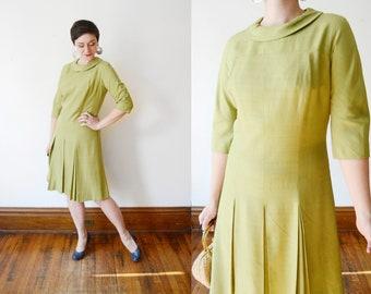 1960s Green Dress - M